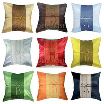 SILK THROW DECORATIVE PILLOW CUSHION COVER CASE FOR SOFA COUCH BED 16x16... - $8.99