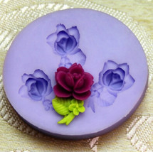 flower mold Silicone mold Soap Mold Chocolate & Ice Cream & Cake molds--... - $8.99