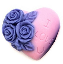 rose Silicone Soap Mold baby soap mold candy & chocolate mold MF001 - $15.99