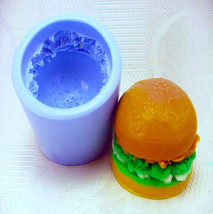 hamburger  Silicone Soap Mold baby soap mold candy & chocolate mold ML003 - $19.99