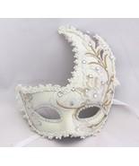 Venetian Goddess Masquerade Mask with High Fashion Macrame Lace & Diamon... - £18.79 GBP