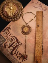 VIntage Gypsy slave bracelet and ring with old brass filigree - $65.00
