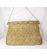 Vintage Hand made in France purse micro beaded french clutch - $195.00