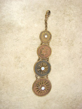 Vintage Victorian  Sun genuine OPAL FOb Chain Graduated watch FOB steampunk - $65.00