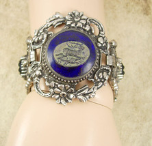 Vintage Czech GLass HUGE victorian bracelet Gothic mythical cabs - $275.00