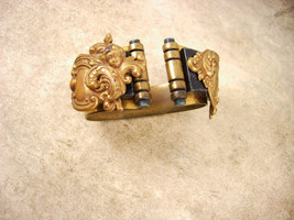 Antique Early 1900s Victorian mourning Cherub bracelet black celluloid and brass - $195.00