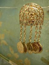 Vintage Coin Drop earrings SHoulderduster Medieval earrings LONG drops c... - $45.00