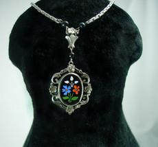 Vintage Victorian Pietra dura Mosaic necklace - $125.00