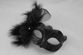 Venetian Goddess Masquerade Mask with Macrame Lace & Diamonds & feather mk16 - $29.99