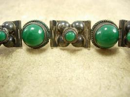 Signed VIntage sterling Mexico Bracelet Fancy ornate settings hallmarked - $195.00