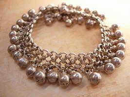 Vintage Hallmarked sterling Gypsy STERLING bracelet Goddess and belly dancer del - $245.00