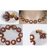 Fabulous WEiss signed Aurora borealis FLorette Necklace bracelet  and ea... - $195.00