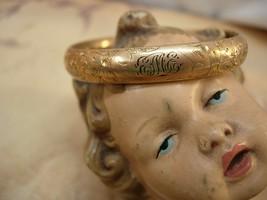 ANtique rose gold filled bracelet for victorian baby or child - $125.00