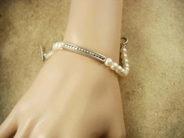 Vintage sterling pearl marcasite wedding Bracelet Carolee - $95.00