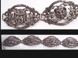 vintage Victorian 800 SILVER devil face Gothic peruzzi bracelet - $325.00