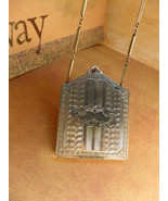 Vintage art deco wrist compact powder and coins with original chain and ... - $125.00