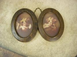 Vintage Cupid portraits miniatures framed Morris Burke Parkinson with hi... - $125.00