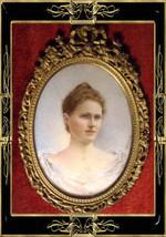 Antique handpainted Portrait Redhead Framed 19th century - $950.00