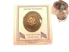 RARE enamel Military Hat helmet locket BRooch and  ORIGINAL CARD - $175.00