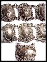 Exotic Antique Etruscan silver Bracelet Victorian bracelet European silver brace - $225.00