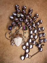 Dramatic Statement Goddess Necklace Rainbow topaz and huge rhinestones - $275.00