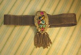 Victorian necklace ANtique czech jeweled Czech dress clip fringe collar choker - $125.00