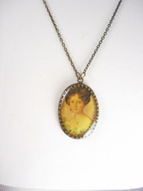 Vintage Victorian portrait necklace - $35.00