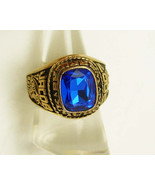 Vintage Mohawk Class Ring Blue High School Warriors Sycamore Ohio Birthd... - $75.00