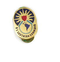 Vintage Southern Command Large Tie TacLapel Pin Red Blue Black Enamel Mi... - $40.00