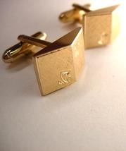 Shields Vintage Dimensional Engraved Cufflinks Wedding Business Signed - $55.00