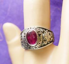 1983 High School Ring Vintage Ruby Keyser Education West Virginia Sterli... - $85.00