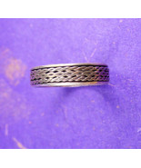 Vintage Unity Band Sterling Silver 3 grams Size 12 1/2 Men's Wedding Ring - $90.00