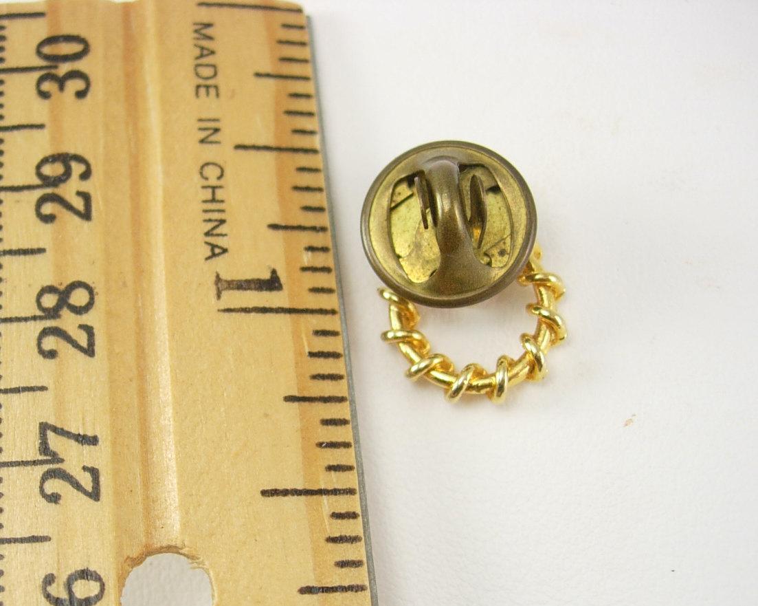 Golden Cross tie tack  Wreath Lapel Pin Birthday Anniversary Religious Confirmat