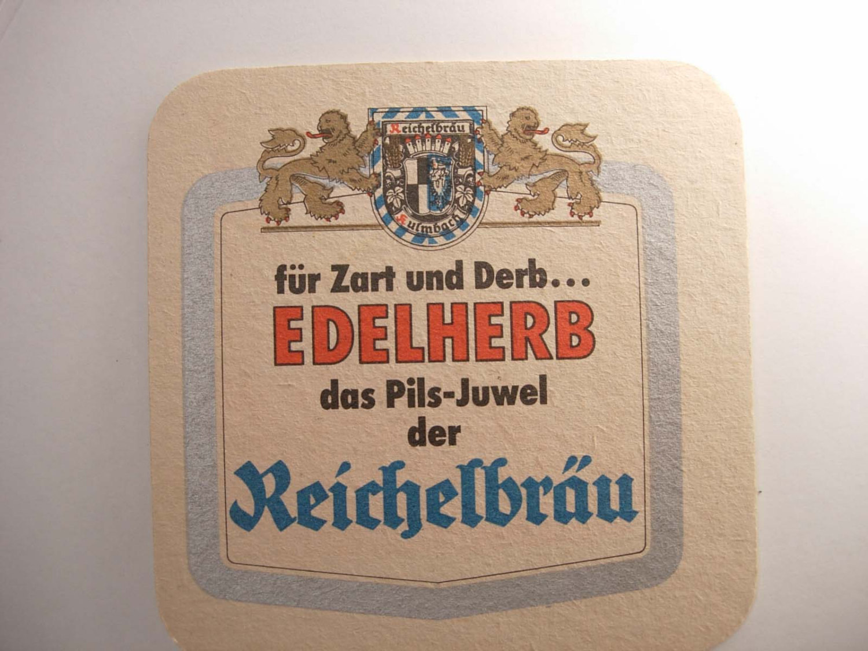 Vintage Reichelbrau Bier Coaster Germany Deustch Collector