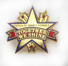 Pinellas County Schools Vintage Tie Tac Lapel Hat Pin Together We Shine ... - $25.00
