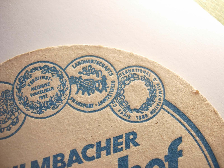 Vintage Monchshof Brau Coaster Kulmbach Germany Deutsch