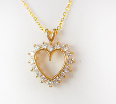 Vintage Rhinestone heart necklace sweetheart  bridesmaid mother of the b... - $65.00