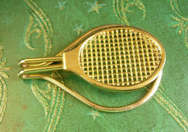 Universal Tennis Racket Tie Clip Vintage Money Clip Extra Large Men's Cl... - $65.00