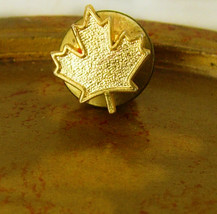 Vintage Gold Filled Maple Leaf Tie Tac Lapel Pin Foliage Canada Birthday... - $25.00