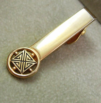 Art Deco Vintage Swank Tie Clip Black Enamel Gold Filled Wedding Business - $45.00