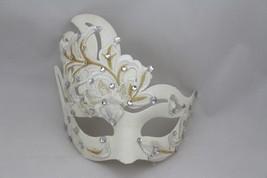 Venetian Goddess Masquerade Mask with High Fashion Macrame Lace & Diamonds mk40 - $26.99