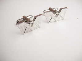 Art Deco Jeweled W Cufflinks Wedding Businessman Signed Speidel - $35.00