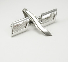 Vintage Art Deco Cufflinks Bonus Tie Clip Wedding Business Fathers Day S... - $40.00