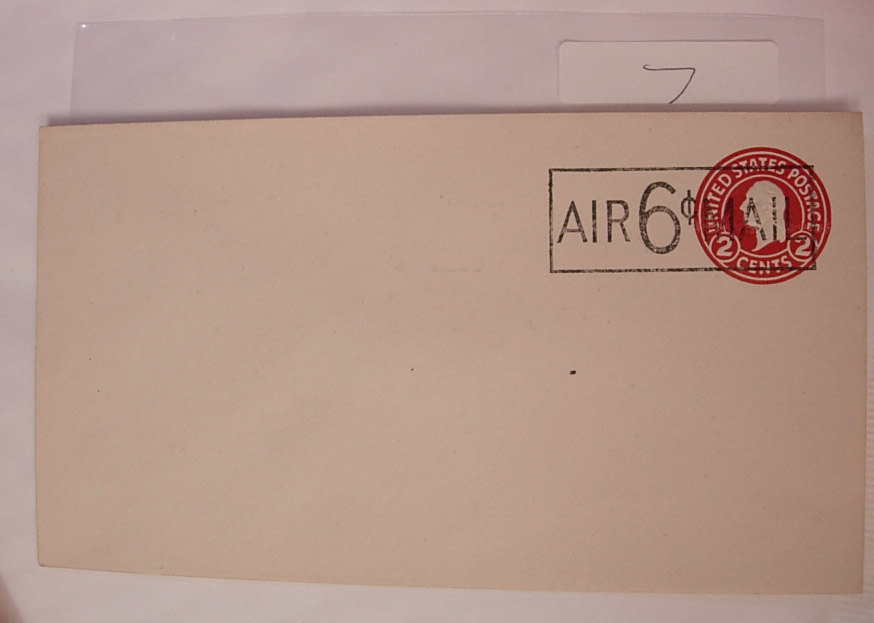First Day Cover 6 Cent Airmail Unused and Cancelled