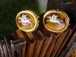 Museum Cufflinks Pegasus Vintage Cupid Mythical Winged Horse Collectors Designer - $225.00