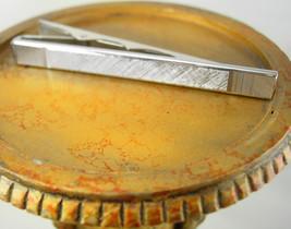 Extra Large Brushed Silver Tie Clip Vintage Wedding Birthday Valentines - $65.00