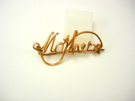 Vintage Mother Sweetheart Brooch WWII Gold Fill Mothers Day Birthday - $45.00
