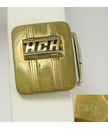 Vintage Letters HCH Belt Buckle Bronze Plate Brass Fathers Day Birthday ... - $35.00