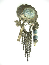 Vintage Old Indian Brooch Hand Wrought Southwestern Celebrations Tribal - $125.00