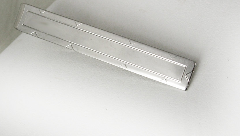 Swank Modernist Engravable Tie Clip Vintage Holidays Birthday Wedding Business image 2
